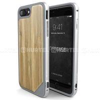 X-Doria Defense Lux Wood - Etui iPhone 7 Plus z anodyzowanego aluminium i drewna (Bamboo) - Brązowy jasny, ku