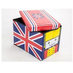 Profeos.eu Pufa/pojemnik na zabawki dla dziecka uk flag / gwarancja 24m / najtańsza wysyłka!