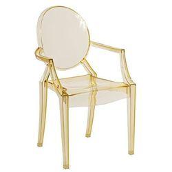 Krzesło dziecięce Mini Royal Junior inspirowane Louis Ghost - żółty ||transparentny