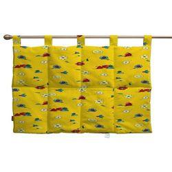 Dekoria  wezgłowie na szelkach, wesołe kreciki na żółtym tle, 90 x 67 cm, wyprzedaż do -30%