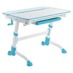 Volare blue - biurko dziecięce - regulowane - szkolna promocja! marki Fundesk