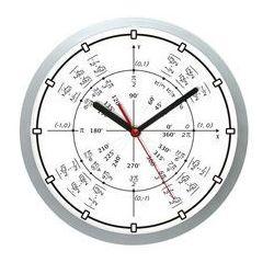 Zegar ścienny solid geometria