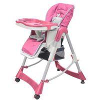 krzesełko dla dzieci do karmienia, z regulowaną wysokością, róż marki Vidaxl