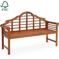 Wideshop Ławka ogrodowa drewniana meble ogrodowe 135 cm