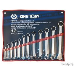 ZESTAW KLUCZY OCZKOWYCH PROSTYCH 12cz. 6 - 32mm King Tony 1C12MR