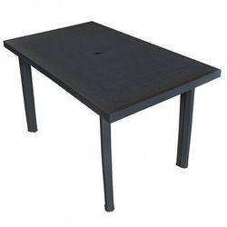 Praktyczny stół ogrodowy Imelda 2X - antracytowy, vidaxl_43599