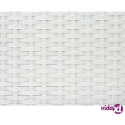 Skrzynia na poduchy biała - rattan - meble ogrodowe - 160 cm - modena marki Beliani