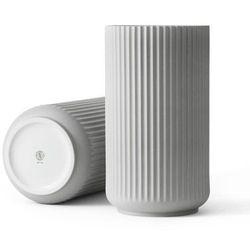 Lyngby porcelain Wazon porcelanowy 31 cm, jasny szary - (5711507212043)