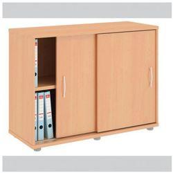 Szafa variant z przesuwnymi drzwiami, 1000x400x753 mm, grusza aroso wyprodukowany przez B2b partner