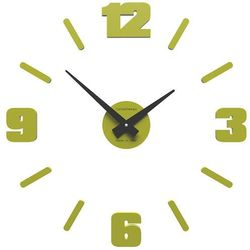 Zegar ścienny Michelangelo mały CalleaDesign cedrowy-zielony, kolor zielony