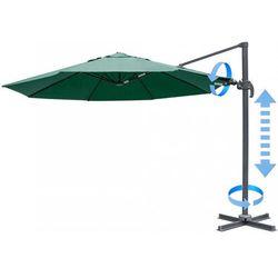 MAKERS parasol ogrodowy boczny Verona 3,5 m, ciemnozielony