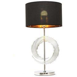 Lumina deco Glamour lampa nocna czarno-chromowana delari