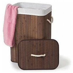 Perel bambusowy kosz na pranie - prostokątny - brązowy (5410329645458)