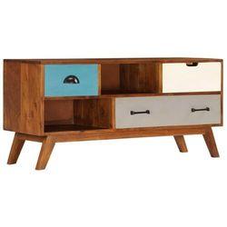vidaXL Szafka pod TV z 3 szufladami, 110x35x50 cm, drewno akacjowe (8718475740322)