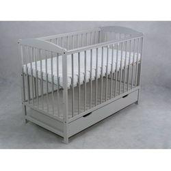 łóżeczko niemowlęce zbyszek popiel z szufladą+ gryzak marki Wujec