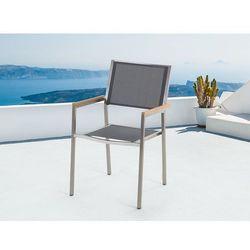 Meble ogrodowe szare - krzesło ogrodowe - balkonowe - tarasowe - GROSSETO