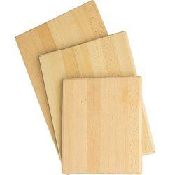 Deska do krojenia z drewna bukowego 300x250x20 mm | STALGAST, 342250