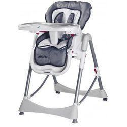 Caretero Bistro rozkładane krzesełko do karmienian grey z kategorii Krzesełka do karmienia