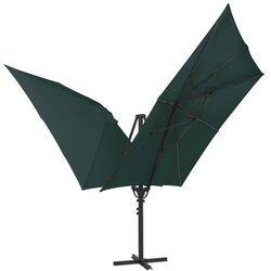podwójny parasol z dwiema czaszami, 300x300 cm, zielony marki Vidaxl