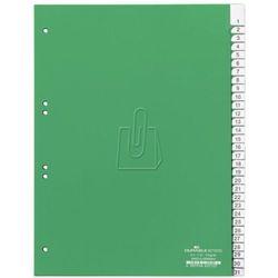 Przekładki do segregatora 1-31 Durable A4 zielone 6219-05, 82621