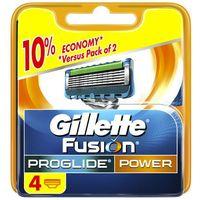 Procter & gamble Wkłady do maszynek zasilanych bateryjnie gillette fusion proglide power (4 sztuki) (77020180