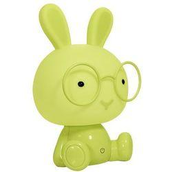 Lampka nocna dziecięca zwierzak polux królik 1x2,5w led zielona, 3 poziomy świecenia 308801 marki Sanico