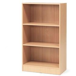 Regał biurowy flexus, 3 półki, 1325x760x415 mm, laminat, buk marki Aj produkty