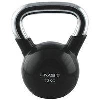 Kettlebell z chromowaną rączką  12 kg - czarny marki Hms