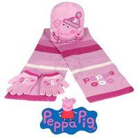 Komplet zimowy - czapka, szalik i rękawiczki Peppa Pig - Świnka Peppa