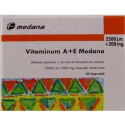 Vitaminum A+E Medana kaps.elast. 2500j.m.+ (Witaminyi minerały)