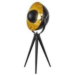 Rabalux Lampa podłogowa nataniel 4139 lampa stojąca 1x25w e27 czarny / złoty