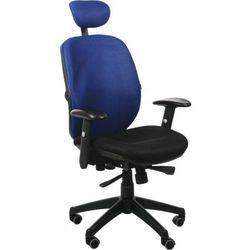 Fotel biurowy gabinetowy KB-912/a/NIEBIESKI - krzesło obrotowe