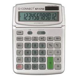 Q-connect Kalkulator biurkowy 12-cyfrowy, 140x180mm, szary (5705831157583)