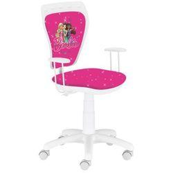 Obrotowe krzesło dziecięce ministyle white - barbie 1, marki Nowy styl