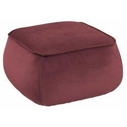 Czerwona pufa tapicerowana - arktos 2x marki Elior