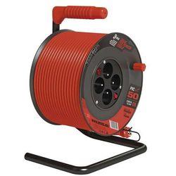 EMOS przedłużacz bębnowy PVC z wyłącznikiem - 4 gniazda, 50 m, 1,5 mm2 (8592920058190)