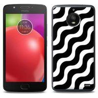 Fantastic Case - Motorola Moto E4 - etui na telefon Fantastic Case - biało-czarna fala, kolor wielokolorowy