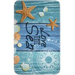 """Dywaniki łazienkowe """"Starfish"""", pianka memory bonprix niebieski"""