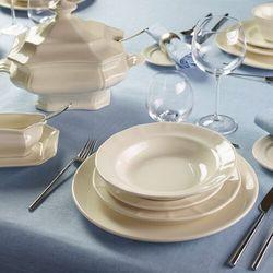 La cartuja de sevilla Pickman serwis obiadowy ochavada blanca 27 elementy dla 6 osób