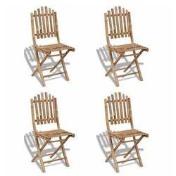 Składane krzesła bambusowe Javal - 4 szt., vidaxl_271715