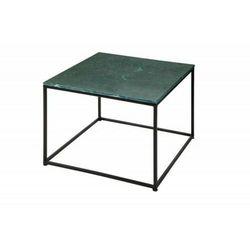 Sofa.pl Invicta stolik kawowy elements 50 cm - marmur zielony, metal