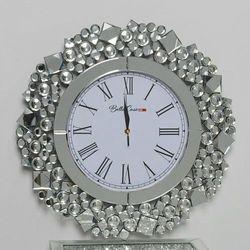 Okrągły zegar glamour c-0511 50x50x4,6 cm marki Bellacasa