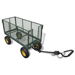 vidaXL Wózek transporter ogrodowy wysokie boczne ścianki (max. 350 kg)