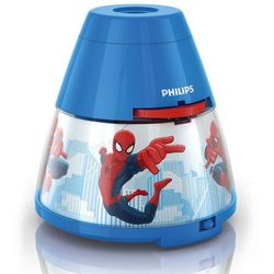 DISNEY - Lampka nocna Projektor LED Niebieski Spiderman Wys.11,8cm (8718291529293)