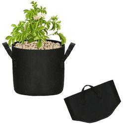 Doniczka materiałowa 17l growbag donica ekologiczna, oddychająca czarna