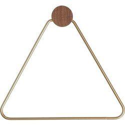 Uchwyt na papier toaletowy trójkąt Ferm Living mosiądz (5704723441403)