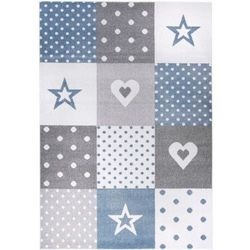 Dywan dziecięcy KOMFORT Easy niebieski biały 180x270