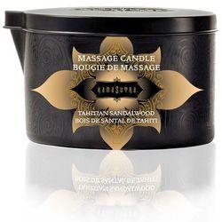 Świeca zapachowa do masażu bez parfiny - Kama Sutra Massage Candle Drewno Sandałowe - duża 170gram