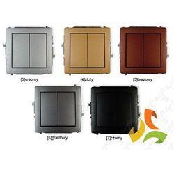 Wyłącznik podwójny świecznikowy KARLIK DECO metalik - produkt z kategorii- świetlówki