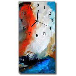 Zegar Szklany Pionowy Malowany obraz olejny Sztuka